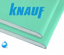 Гипсокартон Knauf влагостойкий 2500х1200х12,5 мм